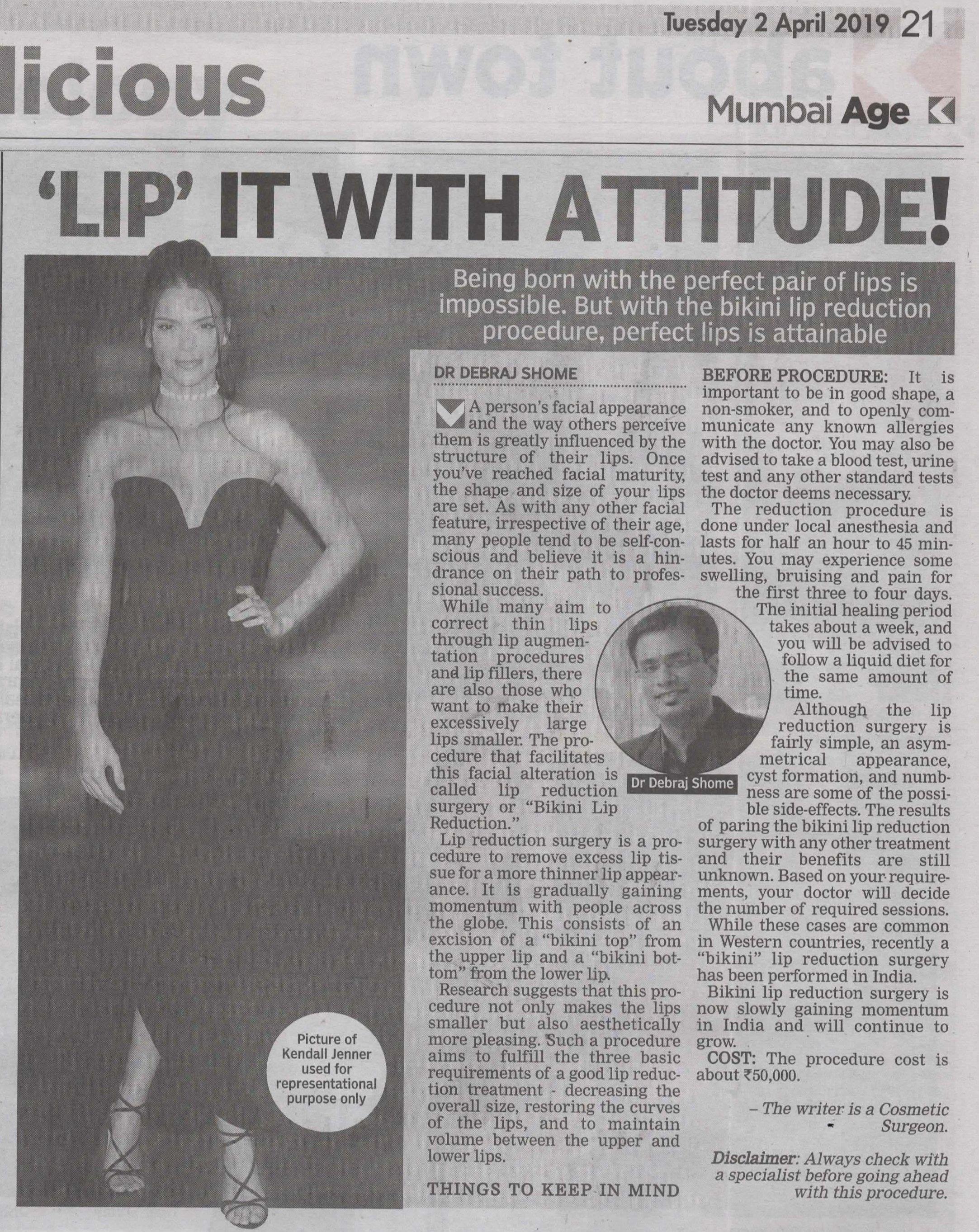 Bikni Lip - Asian Age & Deccan Chronicle