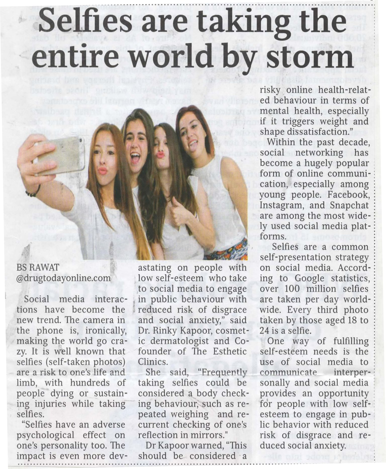 Selfies Are Taking The Entire World By Storm - Medical Times