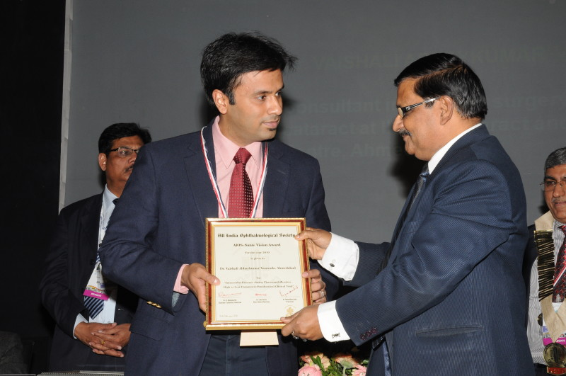 Dr. Shome has also won the extremely acclaimed Colonel Rangachari award & the Hanumantha Reddy award at the annual meeting of the All India Ophthalmological Society Conference in 2010